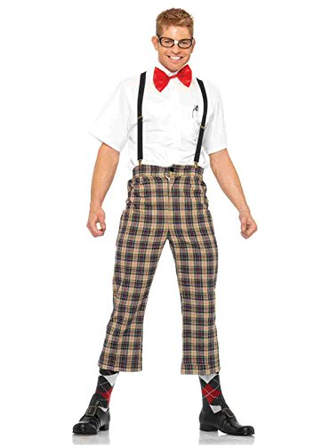 [4pc. Nerdy Ned Costume Bundle with Rave Shorts] (Nerdy Ned Costumes)