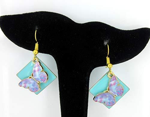 Enamel Butterfly Earrings - 9
