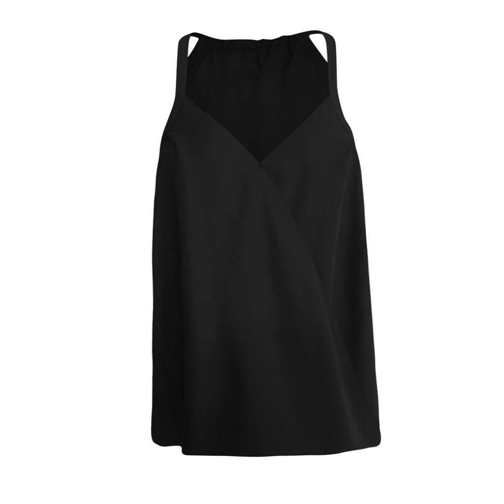 Cardigo Women Solid Sleeveless Fashion Top V-Neck Vest Tank Shirt Blouse Tops