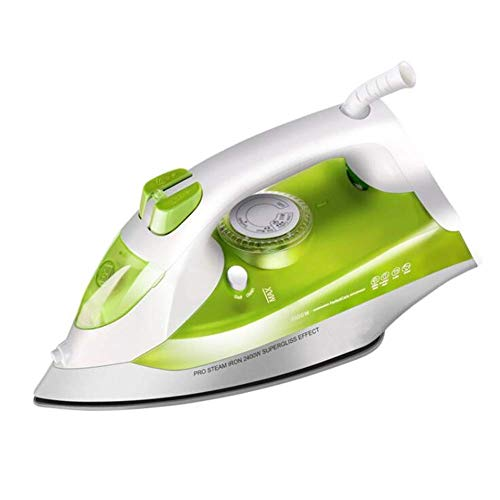 Lzour Handheld Steam Irons Home Strong Ceramic Ground Garment Steamer Continuous High Print Steam Up to 45G/Min, for Clothing/Home/Küche/Bad/Car 2400 Watt