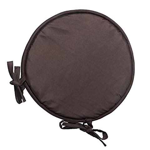 Seat Pads Cushion, Chair Pads Indoor 10x10 Inches Polyester Seat Pillows With Ties for Dining Garden Patio Home Office Kitchen Round (Round Chair Pads With Ties)
