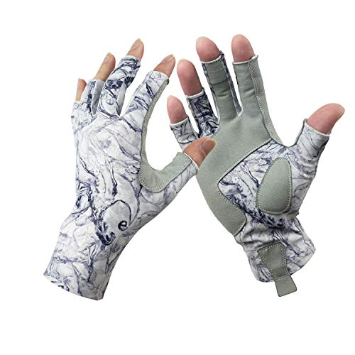 Riverruns Fingerless Fishing Gloves are Designed for Men and Women Fishing, Boating, Kayaking, Hiking, Running, Cycling and Driving. (M