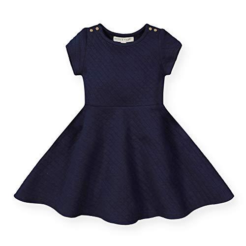 (Hope & Henry Girls' Quilted Matelasse Dress Navy)