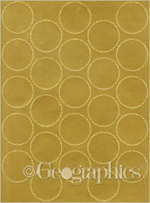 Seals Foil (Geographics Certificate Gold Foil Seals, 1 3/4 Inches dia., Gold Foil, (44461),200 Pack.)