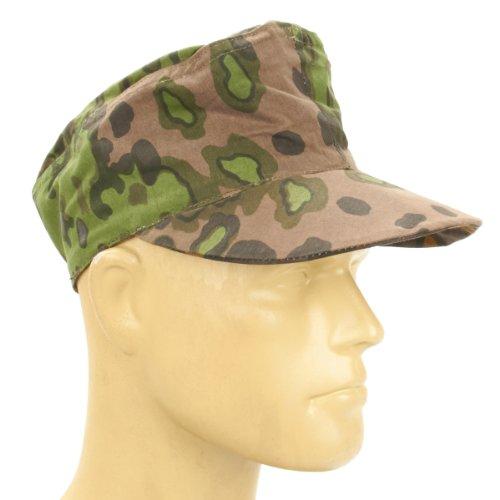 M43 Field Cap (German WWII Reversible M43 Field Cap Oakleaf Pattern A Camouflage- 60cm, US 7)