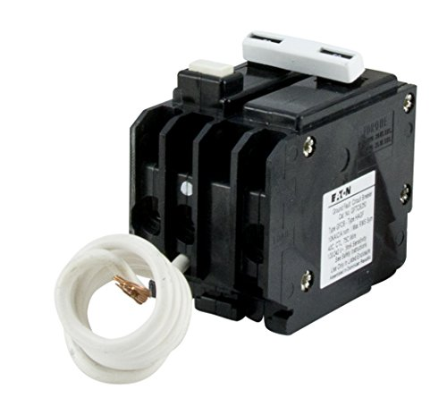 Eaton GFTCB250 Plug-On Mount Type GFTCB Ground Fault Circuit Breaker 2-Pole 50 Amp 120 240 Volt AC