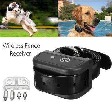 Dog Fence System Wireless - Dog Collar Fence Wireless - Wireless Dog Fence Collar Waterproof Receiver Training Containment System Black (Wireless Fence Receiver)