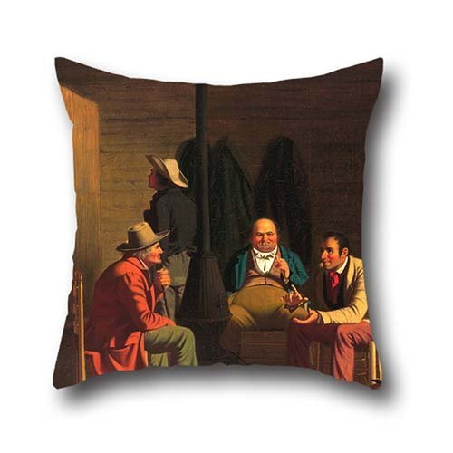 [Oil Painting George Caleb Bingham - Country Politician Throw Pillow Covers 18 X 18 Inches / 45 By 45 Cm Best Choice For Teens Girls,valentine,wife,home Office,bf,kids With Each] (Red Crayon Tank Dress Costume)