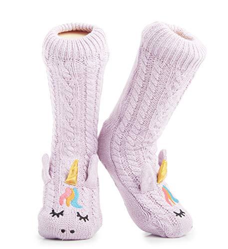 CityComfort Warme Winter Socken Damen Mädchen Größe 37-41 - Slipper Socken