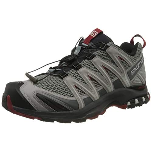 chollos oferta descuentos barato Salomon XA Pro 3D Zapatillas de Trail Running para Hombre Gris Monument Ebony Red Dahlia 42 EU