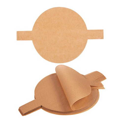 100 Count Unbleached Parchment Rounds - Parchment Liners with Easy Lift Tabs for 9-Inch Round Cake Pans, Unbleached Brown