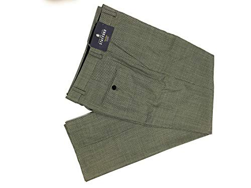 Stafford Tailored Culture 100% Wool Flat Front Classic Fit (34X34)