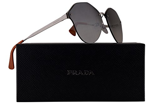 Prada PR64TS Sunglasses Silver w/Silver Grey Gradient Mirror 66mm Lens 1BC4S1 SPR64T PR 64TS SPR - Eyeglasses Prada 2016