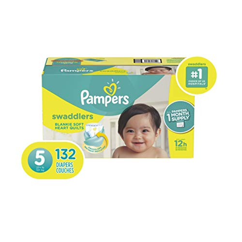 Diapers Size 5, 132 Count - Pampers Swaddlers Disposable Baby Diapers, ONE MONTH SUPPLY ()