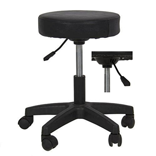 New! Premium Black leather looks Hydraulic Adjustable Stool Facial Salon Massage Beauty Spa Dental Tattoo Rolling Swivel Chair Black #1078