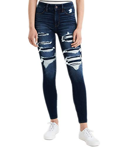 Ae Eagle - American Eagle Womens 1532587 360 Next Level High Waisted Jeggings, Up All Night (6 Short)