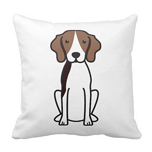 Treeing Walker Coonhound Dog Cartoon Throw Pillow Case 18 18 by (Treeing Walker)