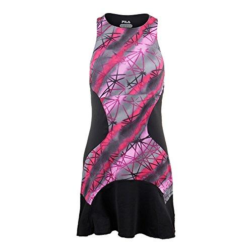 Fila Tennis Dress (Fila Women's Sleek Streak Printed Dress, Sleek Multi Print, Black, M)