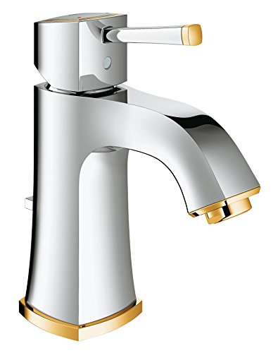 GROHE single-lever washbasin-mixer Grandera 23303 1-hole mount chrome/gold 23303IG0