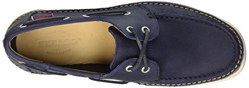 Sebago Mens Ryde Två Ögat Oxford Marinblå Läder