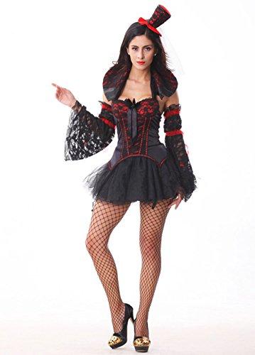Vicious Vampire Costumes (MV Women Vampire Costume Halloween Costume Outlet Uniform Temptation Vicious Zombie Dress Clothing)