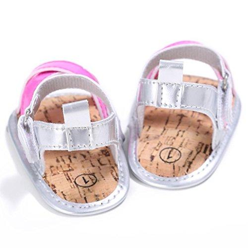 Tefamore Zapatos Sandalias Bebé al aire libre Princesa Primeros caminantes Niñas Niños Rosa caliente