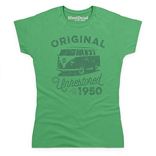 Para Verde Mujer Motoring 1950 Heritage Celta Camiseta Shotdeadinthehead 1IUYY