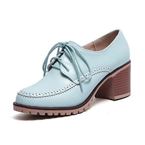 Estilo británico de zapatos de primavera y verano/profundos vínculos con zapatos casuales/Zapatos de mujer tacones gruesos B