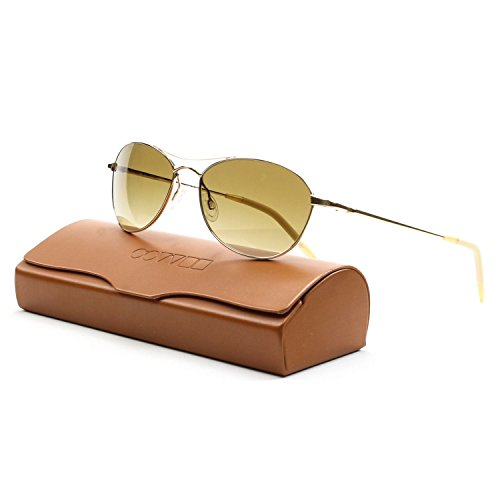 6d4142a4f68 Oliver Peoples OV1005S Aero Sunglasses 5035 N6 57MM Gold Amber Polraized