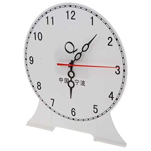B Blesiya Student Teaching Time Clocks Teacher Gear Clock Preschool Learning Time Toy - 12 Hour Clock B