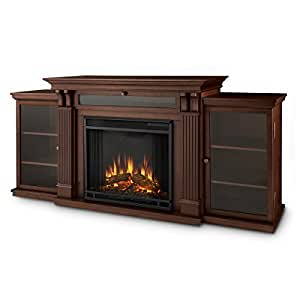 Real Flame 7720E Calie Entertainment Unit with Electric Fireplace, Large, Dark Espresso