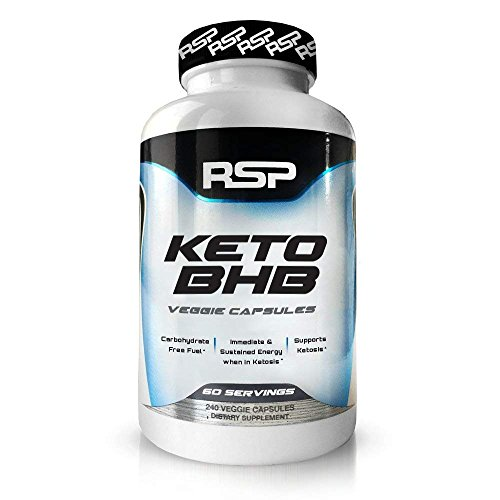 - RSP Keto BHB, 240 Capsules, Keto Supplement with Exogenous Ketones to Support Ketogenic Diet, Boost Energy and Focus in Ketosis, Patented Beta-Hydroxybutyrate BHB Salts, Vegan Friendly Caps, 60 serv