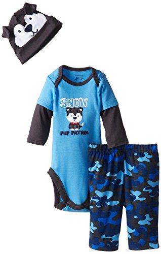 Gerber Baby-Boys Newborn Bodysuit, Pant, and Cap Set