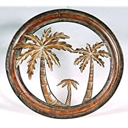 Collectible Badges Decorative 16 Metal Palm Tree Wall Plaque