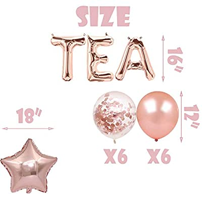 Let's Par Tea Balloons Tea for Two Banner Teapot Teacups High Tea Theme Bridal Shower Engagement Bachelorette Party Supplies Decorations Photo Prop: Toys & Games