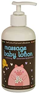 Belly Buttons and Babies Calming Massage Lotion, Lavender Chamomile, 8 Ounce