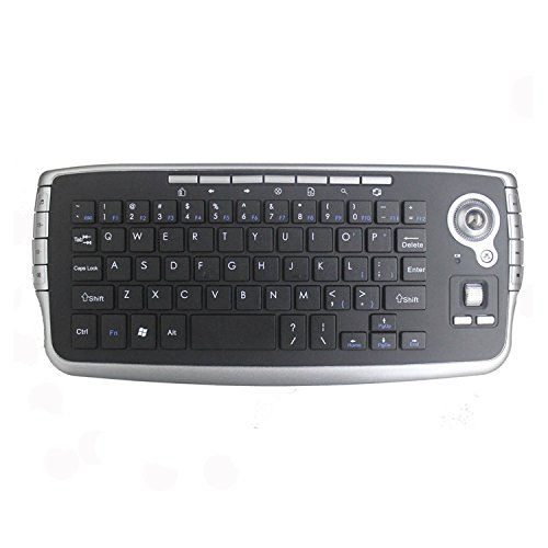 IIDEE 2.4GHz Wireless Compact Keyboard with Optical Trackbal