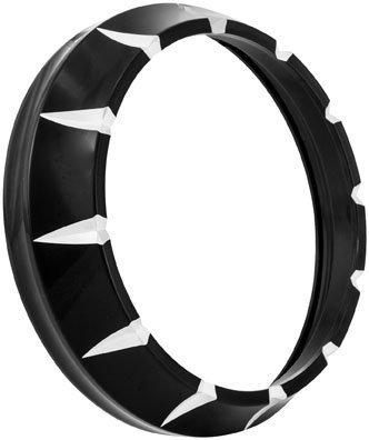 Xtreme Machine 7in. Headlight Bezel - Black Cut 0207-2005XVT-BM