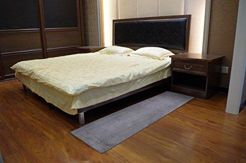 Fabbrica Home Ultra-Soft HD Memory Foam Runner (2 ft x 7.5 ft, Gray) by Fabbrica Home (Image #2)