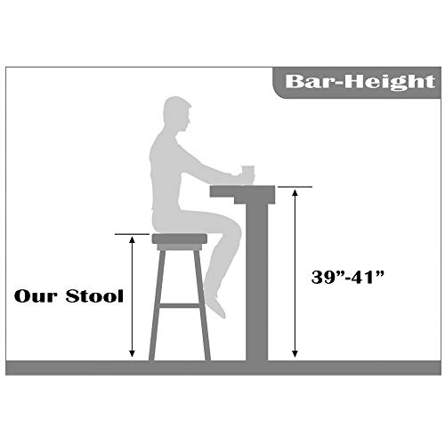2xhome – Red – 28 Seat Height DSW Molded Plastic Bar Stool Modern Barstool Counter Stool Armless Natural Legs Wood Eiffel Legs Dowel-Leg