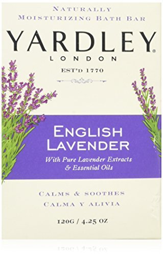 Yardley London English Lavender with Essential Oils Soap Bar, 4.25 oz Bar (Pack of 8) ()