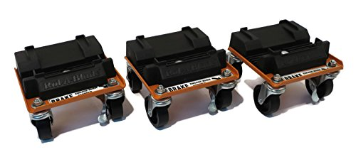 The ROP Shop New Snow Plow ROL-A-Blades Casters Dollies (Set of 3) for Buyers SAM 1310410