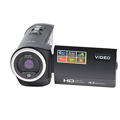 Camcorder Digital Video Camera 720P Digital Camcorder 2.7'' TFT LCD 270 Degree Rotation 16x Zoom Portable Digital Video (Digital Camera 2.7' Lcd)