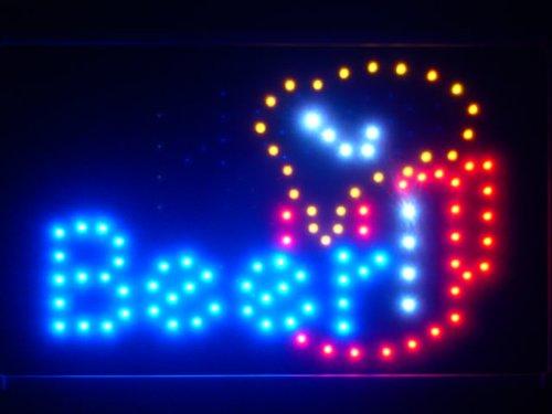 led071-b Taza de cerveza de neón pizarra LED Bar Pub: Amazon ...