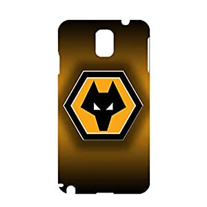 Wolverhampton Wanderers FC Phone Case Cool Design Wolverhampton Wanderers FC Logo Phone Case for Samsung Galaxy Note 3 N9005 3D