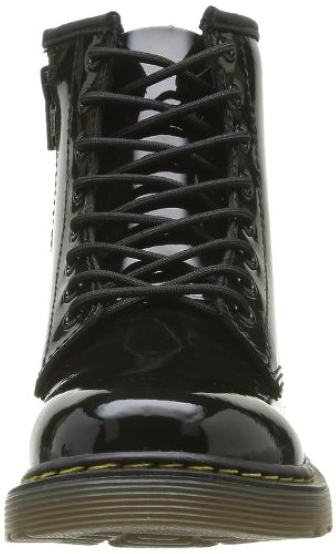 Dr. Martens Delaney Patent Black, Unisex Kids' Boat Shoes, Black, 1 UK (33 EU)