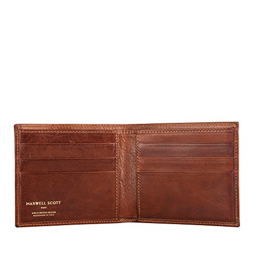 Maxwell Scott Personalized Luxury Tan Gents Leather Wallet - One Size (The Vittore)