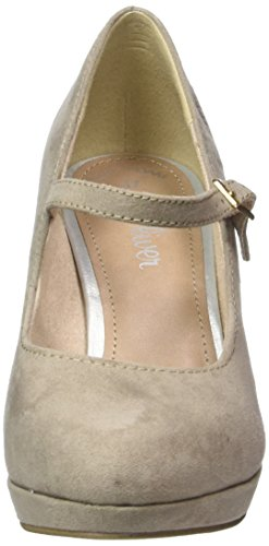 24411 Taupe s con Donna 341 Oliver Beige Scarpe Plateau 1Sqn4OW