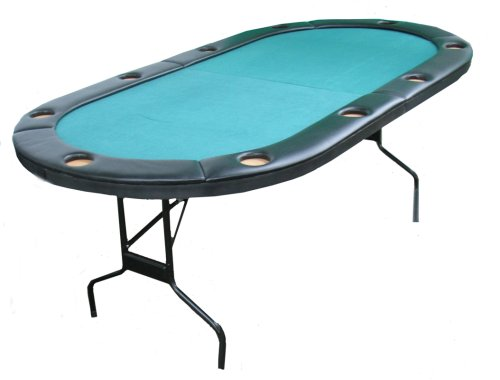 Fat Cat Folding Poker Game Table with Cushioned Rail