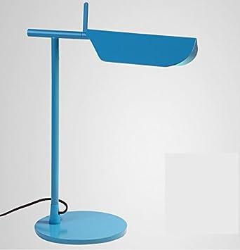 Lámpara de mesa amarilla azul del escritorio de la sala de estudio ...